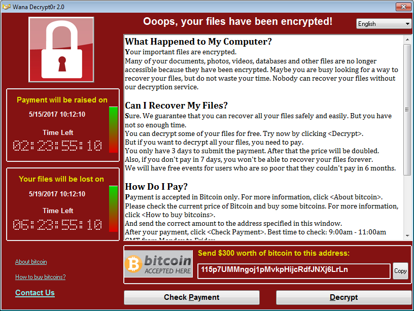 Virus Wannacry - Come proteggersi