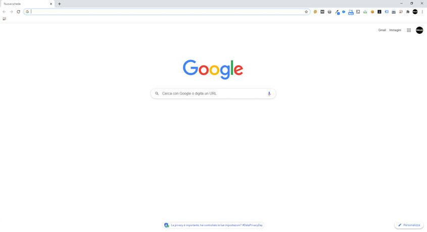 Schermata di Google Chrome