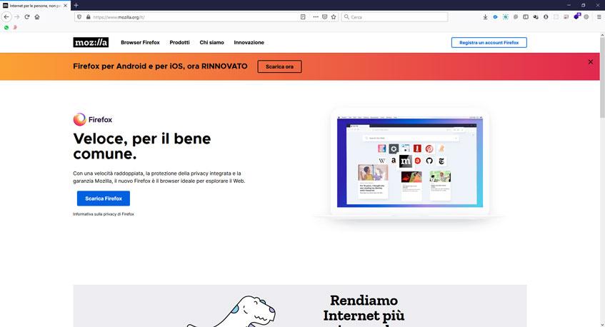 Schermata di Mozilla Firefox